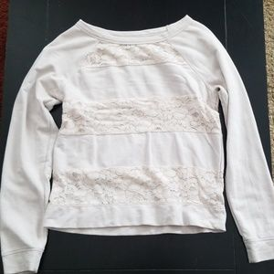 Tan lace layered long sleeve